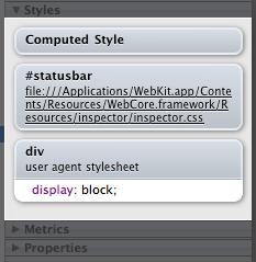 Red Sweater Blog – WebKit's New Element Inspector